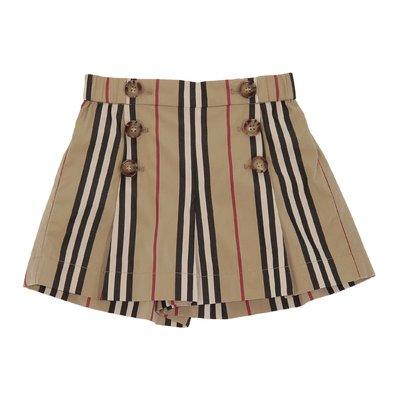 Shorts Icon Stripe in popeline di cotone