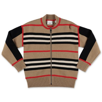Burberry Icon Stripe MARTYN wool & cashmere knit cardigan