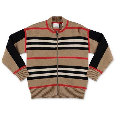 Burberry cardigan Icon Stripe MARTYN in maglia di lana e cashmere