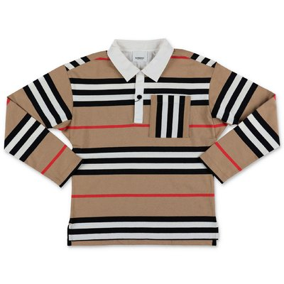 Burberry Icon Stripe CUTHBERT cotton piquet polo shirt