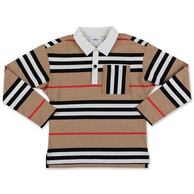 Burberry Icon Stripe CUTHBERT cotton piquet polo shirt