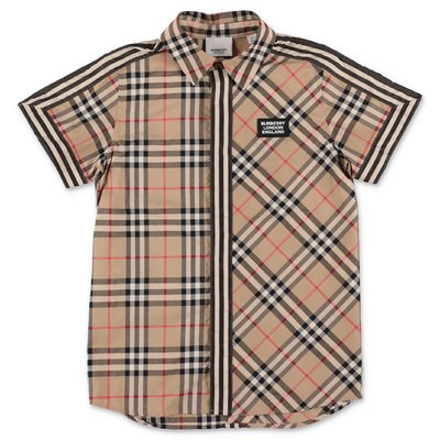 Burberry BARRETT Vintage Check contrasting panels cotton poplin shirt