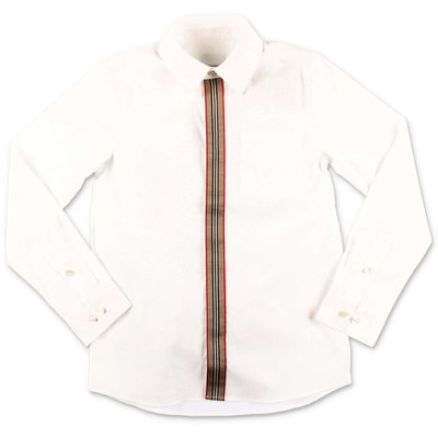 Burberry camicia bianca SILVERTON in popeline di cotone