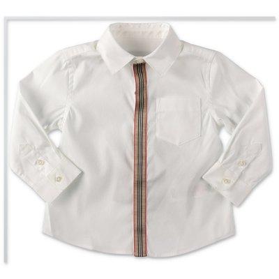 Burberry camicia bianca MINI-SILVERTON in popeline di cotone