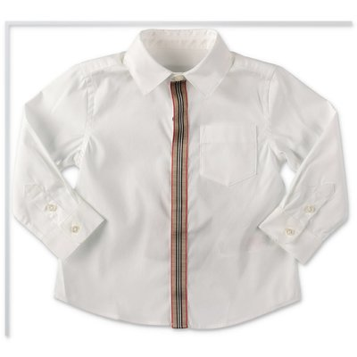 Burberry MINI-SILVERTON white cotton poplin shirt