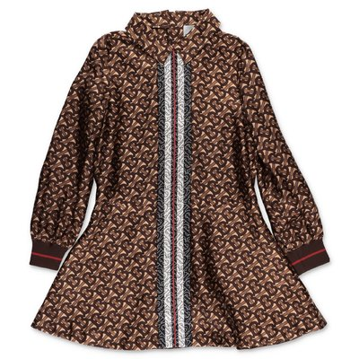 Burberry PERNILLA brown monogram print silk dress