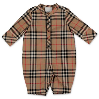 Burberry Vintage Check PIERRE cotton poplin romper