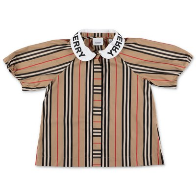 Burberry blusa Icon Stripe CECILY in popeline di cotone