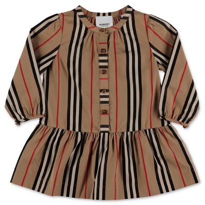 Burberry abito Icon Stripe ELLA in popeline di cotone