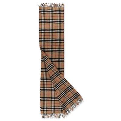 Burberry Vintage Check extra fine merino wool scarf