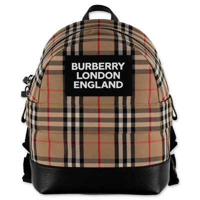 Burberry NICO Vintage Check cotton canvas backpack