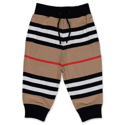 Burberry pantaloni Icon Stripe LANFORD in felpa di cotone