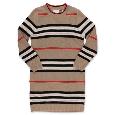 Burberry Icon Stripe wool & cashmere knit dress