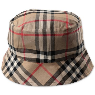 Burberry cappello bucket KURT Vintage Check in gabardina di cotone
