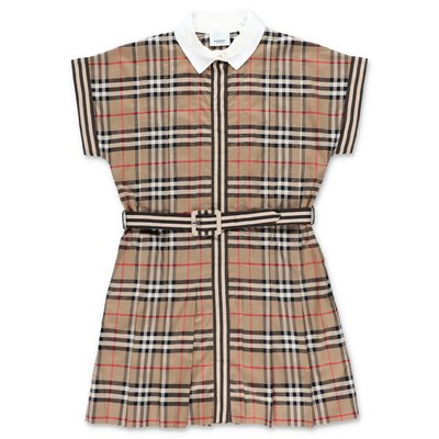 Burberry LEAH Vintage Check cotton poplin shirt dress