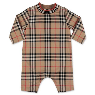 Burberry MICHAEL Vintage Check cotton poplin romper