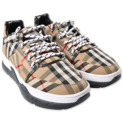 Burberry sneakers Vintage Check in cotone con lacci