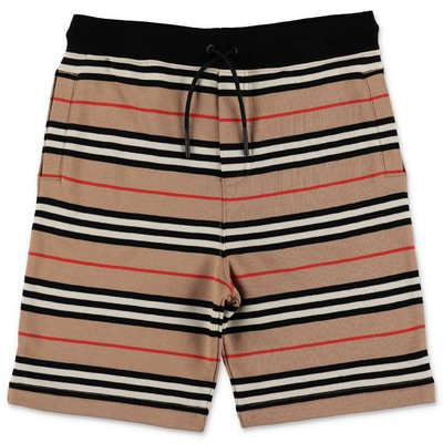 Burberry Icon Stripe cotton sweat shorts