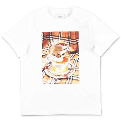 Burberry white cotton jersey t-shirt