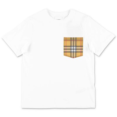 Burberry t-shirt bianca in jersey di cotone
