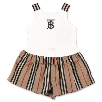 Burberry RHONDA contrasting panels cotton romper