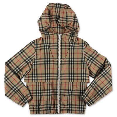 Burberry Vintage Check nylon WILBUR hoohed jacket
