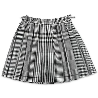 Burberry gonna PEARLY tartan plissé in popeline di cotone