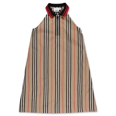 Burberry abito KAREN Icon Stripe in popeline di cotone