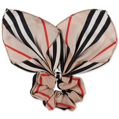 Burberry Icon Stripe silk scarf scrunch