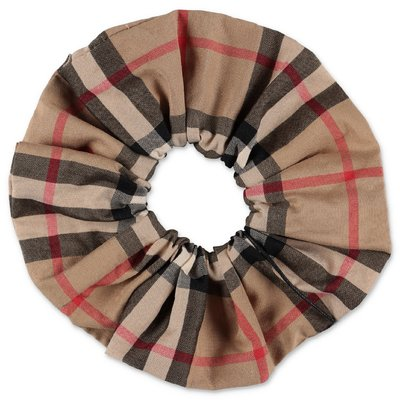 Burberry Check cotton poplin scrunchie