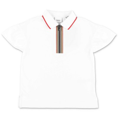 Burberry MARTINA white cotton piquet polo shirt