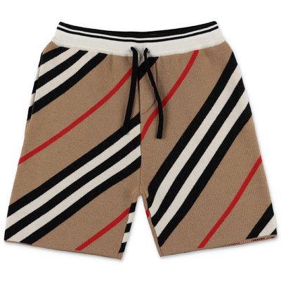 Burberry shorts Icon Stripe in lana merino
