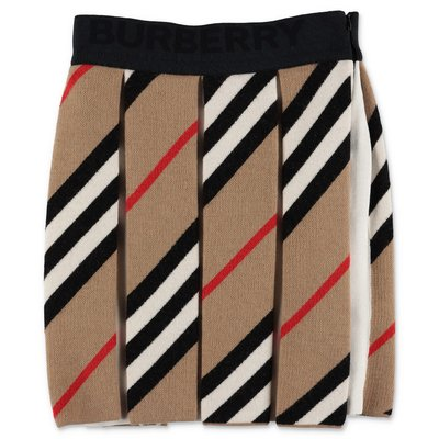Burberry gonna Icon Stripe ROSALITA in maglia di lana e cotone