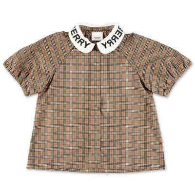 Burberry blouse Check poplin cotton LILA