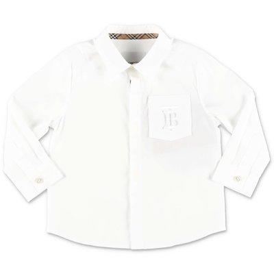 قميص بربري من قطن البوبلين الأبيض