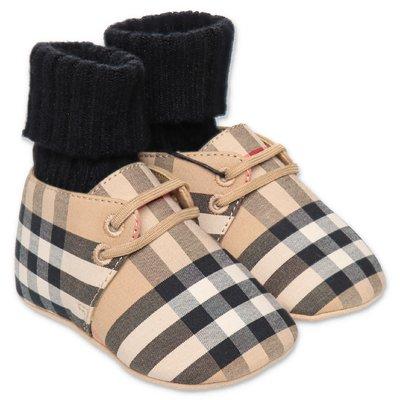 CHALBURYUL Vintage Check Burberry slip on prewalker shoes