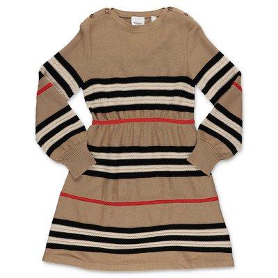 Burberry abito Icon Stripe in maglia di lana e cashmere