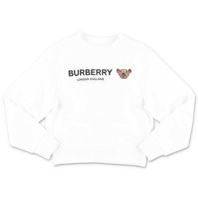 Burberry felpa bianca ZIA BEAR in cotone