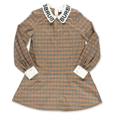 Burberry abito ALICIA Check in popeline di cotone