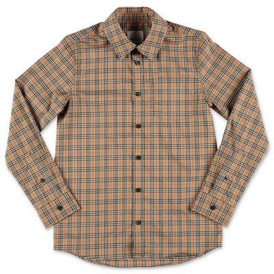 Burberry camicia Vintage Check OWEN in popeline di cotone