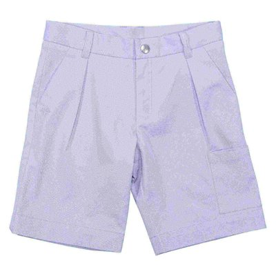 Sky blue cotton gabardine shorts