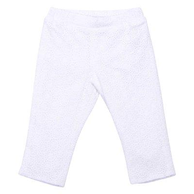Pantaloni bianchi in pizzo di San Gallo