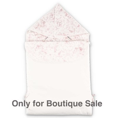 Baby Dior white cotton sleeping bag