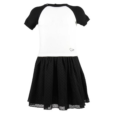 black and white viscose blend dress