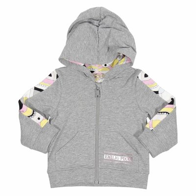 Melange grey cotton sweatshirt hoodie