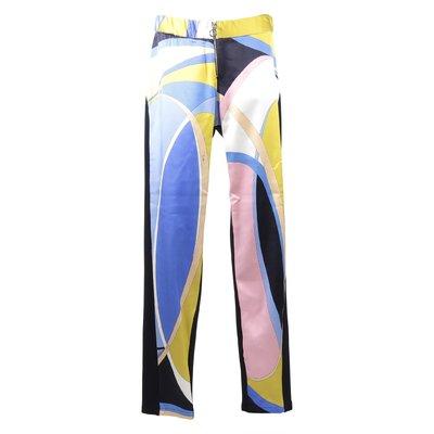 Pantaloni stampa astratta in viscosa