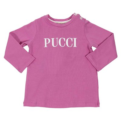 T-shirt rosa scuro in jersey di cotone