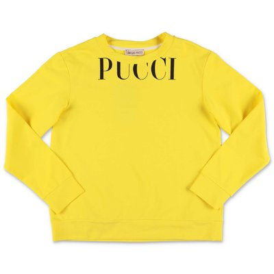 EMILIO PUCCI yellow cotton sweatshirt