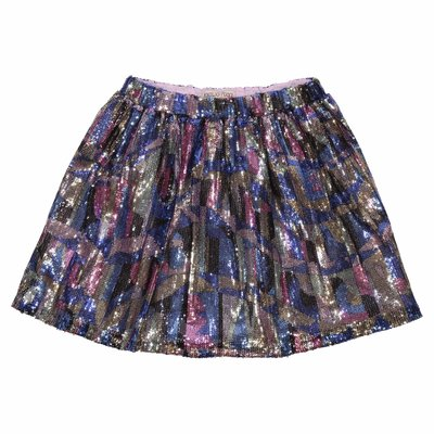 EMILIO PUCCI multicolor sequined techno skirt