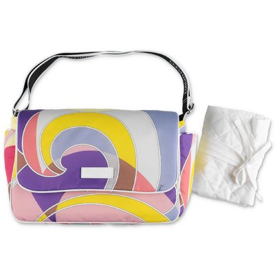 EMILIO PUCCI abstract print multicolor nylon changing bag